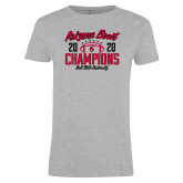 Ladies Grey T Shirt-2020 Arizona Bowl Champions