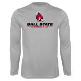 Performance Platinum Longsleeve Shirt-Cardinal Head Ball State Cardinals