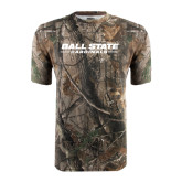 Realtree Camo T Shirt-Ball State Wordmark Vertical