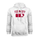 White Fleece Hood-Golf Tee Off
