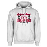 White Fleece Hoodie-2020 Arizona Bowl Champions