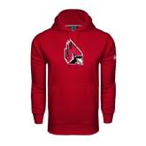 Under Armour Cardinal Performance Sweats Team Hood-Cardinal