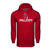 Under Armour Cardinal Performance Sweats Team Hood-Ball State Cardinals w/ Cardinal