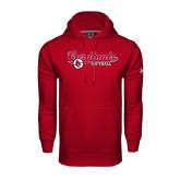 Under Armour Cardinal Performance Sweats Team Hoodie-Softball Script