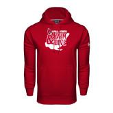 Under Armour Cardinal Performance Sweats Team Hoodie-Swim & Dive Swimmer