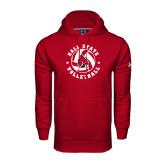 Under Armour Cardinal Performance Sweats Team Hood-Volleyball Circle