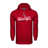 Under Armour Cardinal Performance Sweats Team Hood-Volleyball Can You Dig It