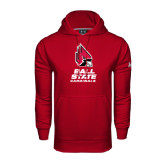 Under Armour Cardinal Performance Sweats Team Hood-Ball State Cardinals Stacked