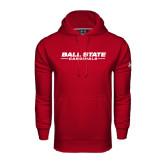 Under Armour Cardinal Performance Sweats Team Hoodie-Ball State Cardinals