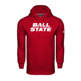 Under Armour Cardinal Performance Sweats Team Hoodie-Ball State Stacked