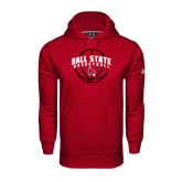 Under Armour Cardinal Performance Sweats Team Hoodie-Basketball Arched w/ Ball
