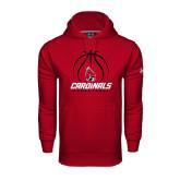 Under Armour Cardinal Performance Sweats Team Hoodie-Cardinals Basketball Stacked