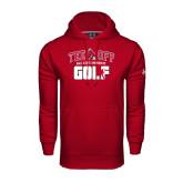 Under Armour Cardinal Performance Sweats Team Hood-Golf Tee Off