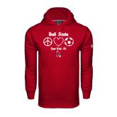 Under Armour Cardinal Performance Sweats Team Hood-Soccer Just Kick It