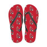Full Color Flip Flops-Cardinal