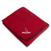 Red Arctic Fleece Blanket-Cardinal Head Ball State Cardinals