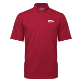 Cardinal Mini Stripe Polo-Ball State Stacked