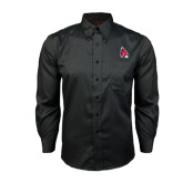 Red House Black Long Sleeve Shirt-Cardinal
