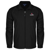 Full Zip Black Wind Jacket-Cardinal Head Ball State Cardinals