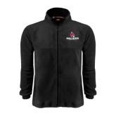 Fleece Full Zip Black Jacket-Ball State Cardinals w/ Cardinal