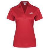 Ladies Red Performance Fine Jacquard Polo-Donor Club
