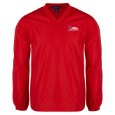 V Neck Red Raglan Windshirt-Donor Club