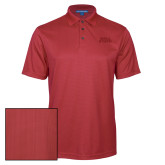 Red Performance Fine Jacquard Polo-Ball State Wordmark Vertical