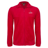 Fleece Full Zip Red Jacket-Cardinal Head Ball State Cardinals