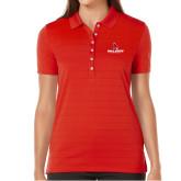 Ladies Callaway Opti Vent Red Polo-Cardinal Head Ball State Cardinals