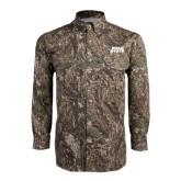 Camo Long Sleeve Performance Fishing Shirt-Ball State Stacked
