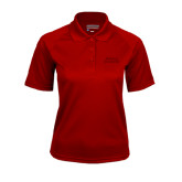 Ladies Cardinal Textured Saddle Shoulder Polo-Ball State Stacked