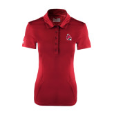 Ladies Under Armour Cardinal Performance Polo-Cardinal