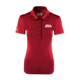 Ladies Under Armour Cardinal Performance Polo-Ball State Stacked