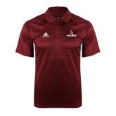 Adidas Climalite Cardinal Jaquard Select Polo-Ball State Cardinals w/ Cardinal