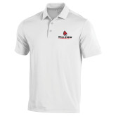 Under Armour White Performance Polo-Cardinal Head Ball State Cardinals