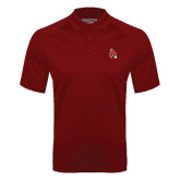 Cardinal Textured Saddle Shoulder Polo-Cardinal