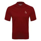 Cardinal Textured Saddle Shoulder Polo-Cardinal