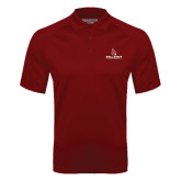 Cardinal Textured Saddle Shoulder Polo-Ball State Cardinals w/ Cardinal