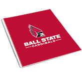 College Spiral Notebook w/Clear Coil-Ball State Cardinals w/ Cardinal