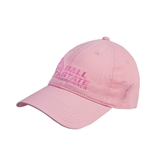 Pink Twill Unstructured Low Profile Cap-Kay Yow Breast Cancer Fund Ribbon