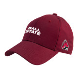 Cardinal Heavyweight Twill Pro Style Hat-Ball State Stacked