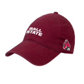 Cardinal Twill Unstructured Low Profile Hat-Ball State Stacked