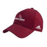 Adidas Cardinal Structured Adjustable Hat-Ball State Cardinals w/ Cardinal