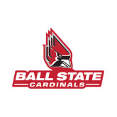 Small Magnet-Ball State Cardinals w/ Cardinal, 6 inches wide