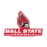 Medium Magnet-Ball State Cardinals w/ Cardinal, 8 inches wide