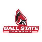 Large Magnet-Ball State Cardinals w/ Cardinal, 12 inches wide