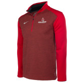 NIKE Red Heather Coaches 1/4 Zip-