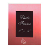 Pink Brushed Aluminum 3 x 5 Photo Frame-Cardinal Engraved