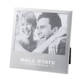 Silver 5 x 7 Photo Frame-Ball State Cardinals Engraved