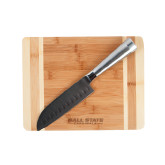 Oneida Cutting Board and Santoku Knife Set-Ball State Cardinals Engraved